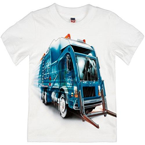 Shirts That Go Little Boys' Big City Recycling Truck T-Shirt 10 White