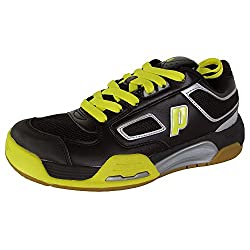 Prince Mens Nfs Assault Indoor Court Sneaker Shoes, Blackyellow, Us 5