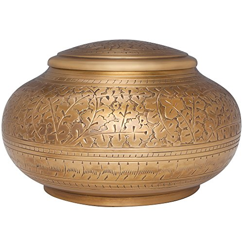 Antique Gold Funeral Urn By Liliane Memorials