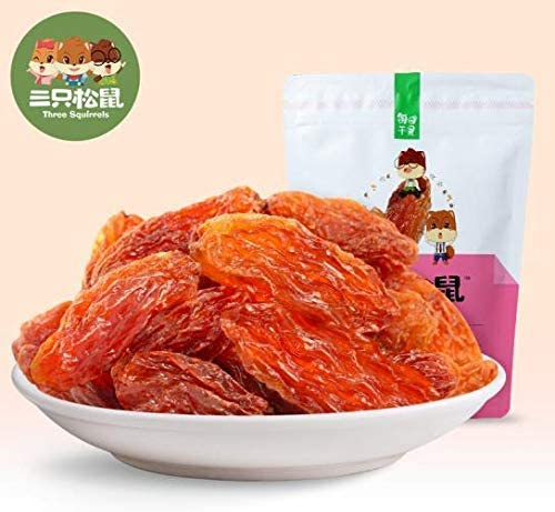 三只松鼠 玫瑰红葡萄干 中国名物 おつまみ 大人気 蜜饯果干休闲零食新疆特产 120g/袋