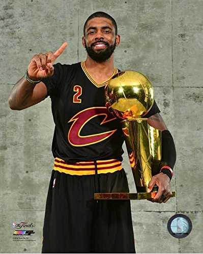 Kyrie Irving Cleveland Cavaliers 2016 NBA Finals Trophy Photo