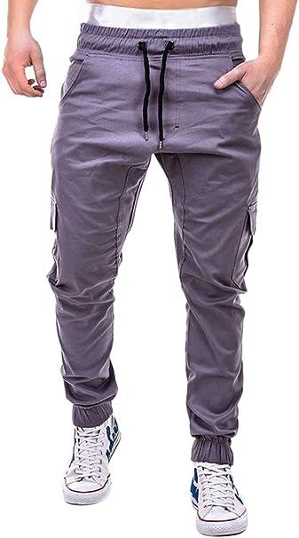 ShallGood Herren Hose Cargo Jogging Pants Sweatpants Sporthose Freizeithose Jogger Trainingshose Fitness Herbst Winter Stretch Chino Jeans Hose