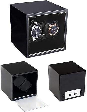 CHHMAELOVE Cajas Giratorias Cargador De Reloj con Motor Silencioso,Cargador para Relojes AutomáTicos,Estuche Bobinadora para Relojes Caja para Reloje,4 Modos De RotacióN,BlackA: Amazon.es: Hogar