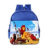 Kids The Lion King School Backpack Cartoon Baby Boys Girls School Bags RoyalBlue
