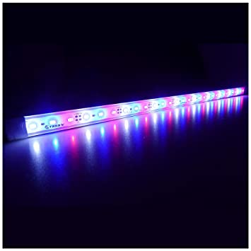 LTRGBW SMD 5730 12V DC 12W 30LED super brillante coralino del acuario LED Light Strip - aluminio ...