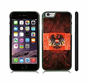 iStar Cases? iPhone 6 Plus Case with Austria Flag with Austrian Coat of Arms Background Design , Snap-on Cover, Hard Carrying Case (Black)