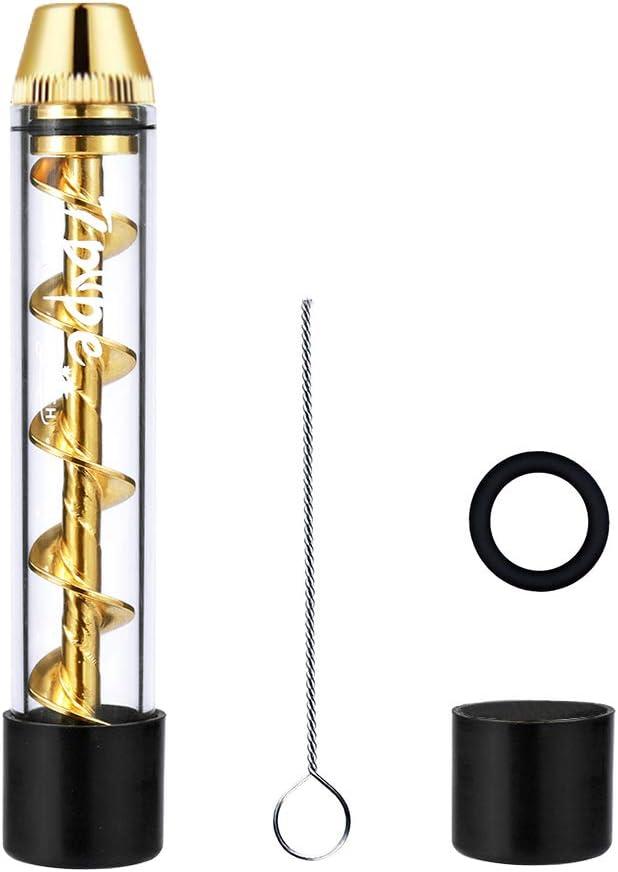 Surplex Glass Blunt Pipe Kit, Cristal, dureza para seca hierbas con cepillo de limpieza accesorios