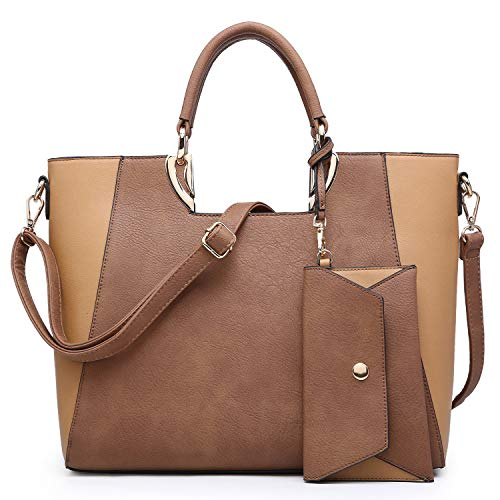 (MMK collection Fashion Handbag with coin purse Classic Women Purse Handbag for Women` Signature fashion Designer Satchel Purse ~ Beautiful Designer Purse & Women Satchel Purse (11-6949-1-BR/TN))