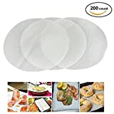 (Set of 200) Non-Stick Round Parchment Paper 9 Inch Diameter, Baking Paper Liners for Round Cake Pans Circle