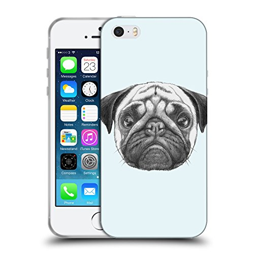 GoGoMobile Coque de Protection TPU Silicone Case pour // Q05440619 Chien pug Bulles // Apple iPhone 5 5S 5G SE