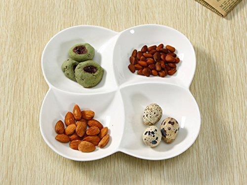 西田(Nishida)ランチプレート 4つ仕切り花型小 仕切り皿