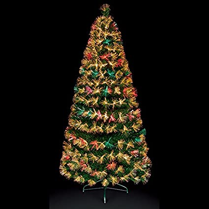 ee40357f65465 Premier Decorations - 5ft Fibre Optic Colour Changing Firework Burst Christmas  Tree with Warm White LEDs  Amazon.co.uk  Kitchen   Home