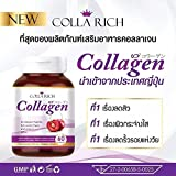 Colla Rich Collagen 60 Capsules Peptide Vit C Zinc Acelora Cherry Whitening Smooth Skin Review