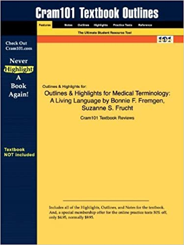 Book Outlines & Highlights for Medical Terminology: A Living Language by Bonnie F. Fremgen, Suzanne S. Frucht by Cram101 Textbook Reviews (2010-01-11)