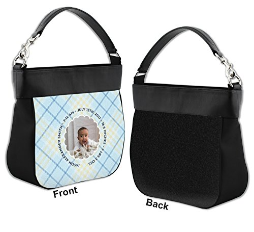 Baby w Trim Hobo Genuine Front Leather Personalized Boy Photo Purse rxqwrSA