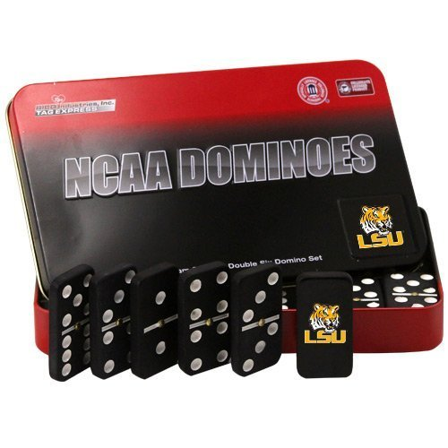 NCAA LSU Tigers Domino Set in Metal Gift Tin by Rico