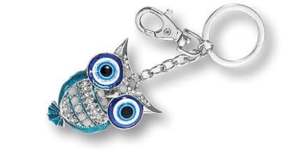 Llavero con mosquetón diseño BÚHO con ojos turco de la ...