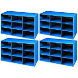 Bankers Box Classroom 9 Compartment Cubby Storage, 4 Pack