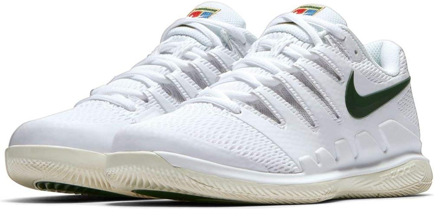Nike Women's Air Zoom Vapor X HC Tennis Shoes (10 B(M) US, WhiteLight CreamMetallic GoldGorge Green)