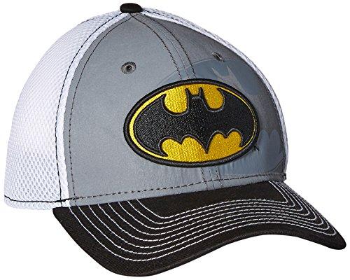 New Era Cap Men's Shadow Flect Neo Batman 39Thirty Stretch Fit Cap, Gray/Black, Medium/Large (Era New Stretch)