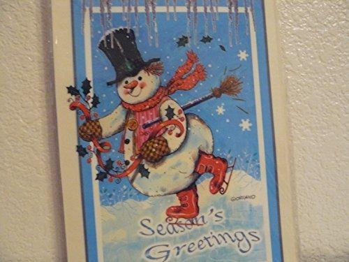 (Snowman Skating Rub-ons)