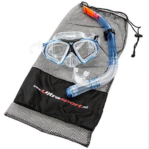 Ultrasport Erwachsenen Schnorchelset Aqua Pro, bestehend aus Tauchmaske und Schnorchel
