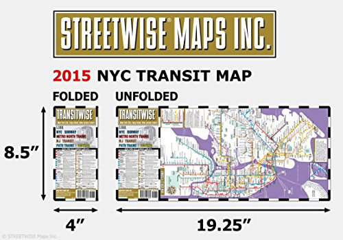 Streetwise Transitwise New York City Subway Map - Manhattan