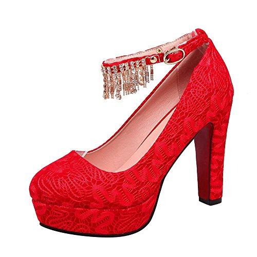 Talons Mariage Carolbar à Dentelle De Strass Hauts Rouges Chaussures  Élégantes Et De En Femmes Wqp0UTax