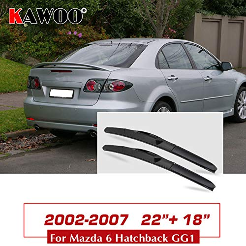 - Wipers Hukcus For Mazda 6 Wagon/Sedan (GG1/GH1/GJ1/GL)/Hatchback(GH1/GG1) Car Wipers Blades Model Year From 2002 To 2016Fit U Hook Arm - (CN, Color: Hatch GG1 2218)