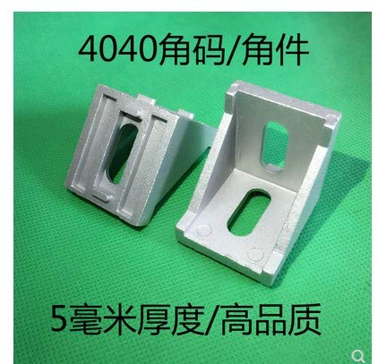 Gimax 50pcs/Lots 4040 Corner Fitting Angle Aluminum 40 x 40 L Connector Bracket Fastener Match use 4040 Industrial Aluminum Profile by GIMAX (Image #1)