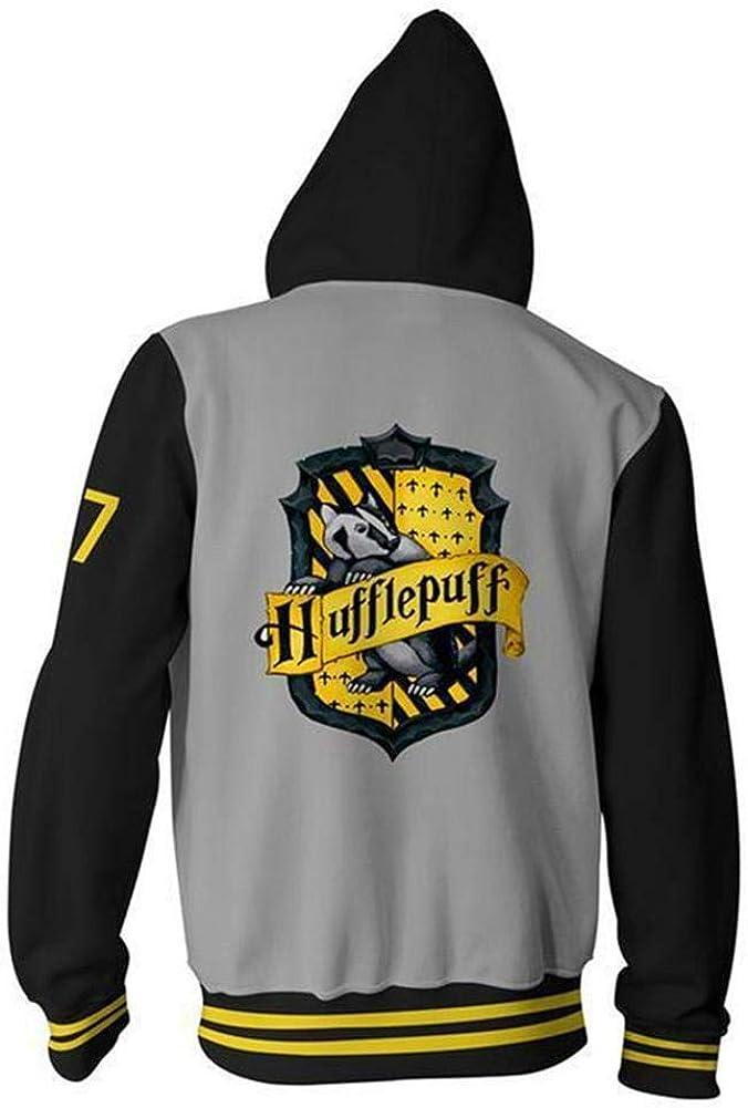 NJunicorn Uncle Harry Potter Felpe con Cappuccio Sweatshirt Gryffindor Ravenclaw Hufflepuff Slytherin Cosplay Unisex Uomo Donna Adolescente
