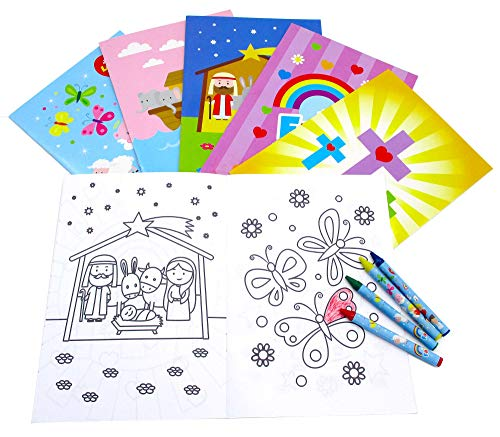 Crayon Set Favor Party (Religious Coloring Books with Crayons Party Favors Set of 12)