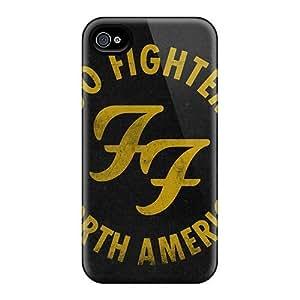 KennethKaczmarek Iphone 4/4s Shock Absorbent Hard Phone Case Allow Personal Design Stylish Foo Fighters Series [MIp8641yVFh]