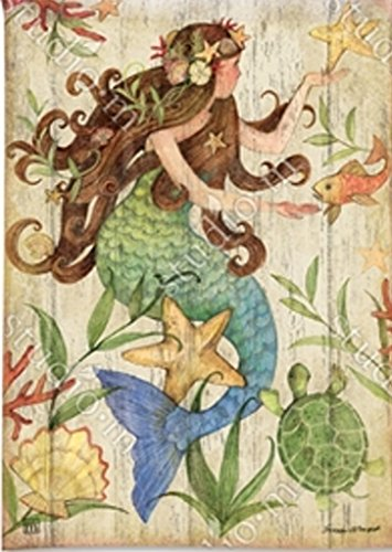 breezeart mermaid garden flag 31456