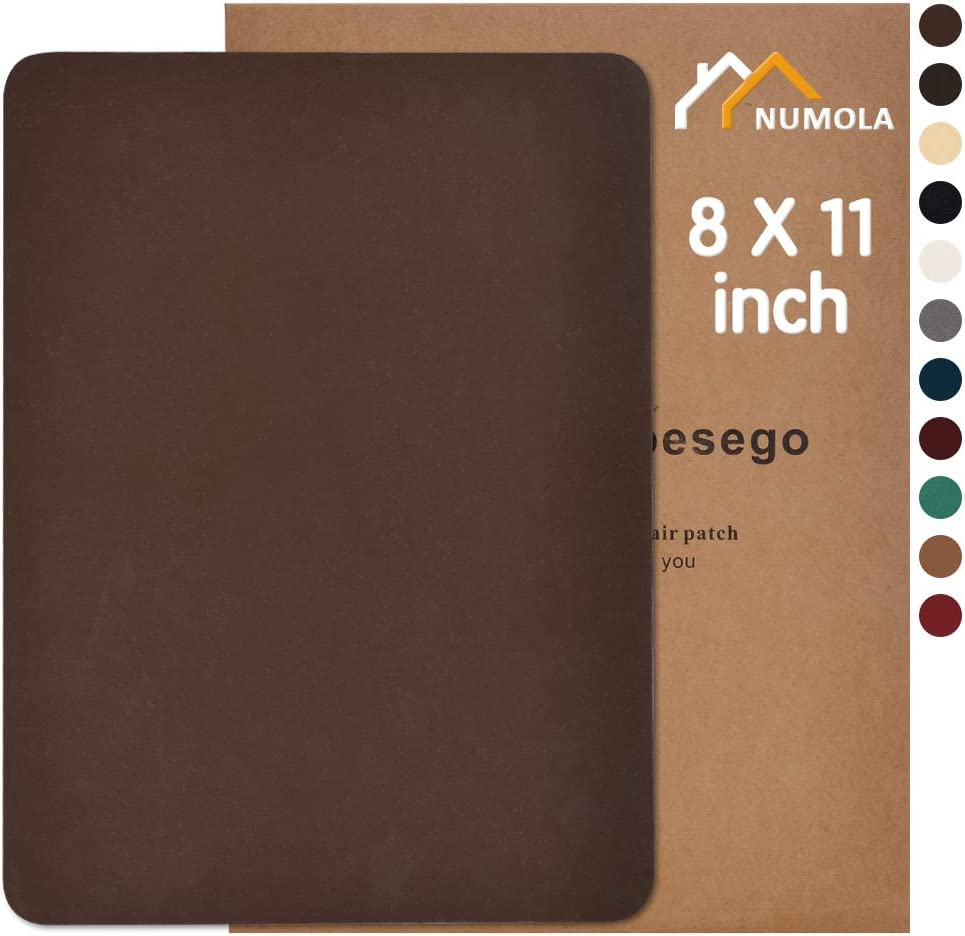 Tan Size 8/'/' x 11/'/' Real Genuine Leather Repair Patch Kit For Sofa Couch