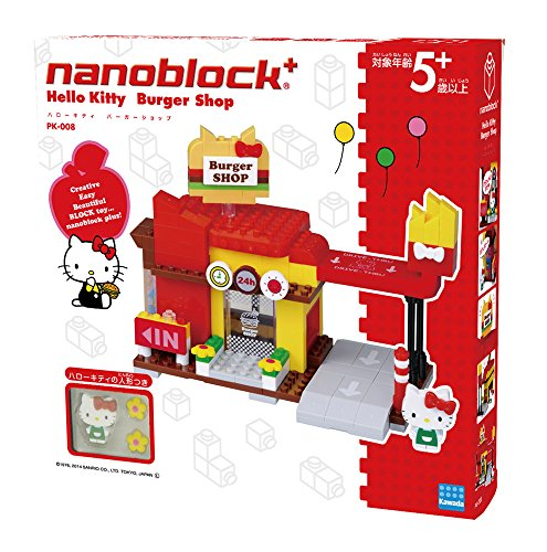 Nano block plus Sanrio Hello Kitty Burger Shop