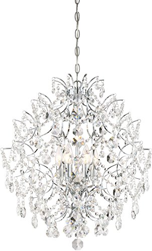 Minka Lavery 3157-77 Isabella s Crown Crystal Chandelier Lighting, 6-Light, 360 Watts, Chrome
