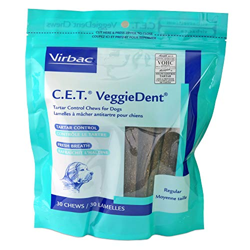 - C.E.T. VeggieDent Chews, Regular, 30 Chews