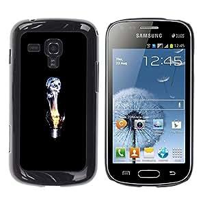 Be Good Phone Accessory // Dura Cáscara cubierta Protectora Caso Carcasa Funda de Protección para Samsung Galaxy S Duos S7562 // Idea Deep Emo Black Dark
