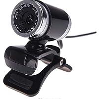Webcam Cinema USB HD Webcam Microfone Embutido Web 5 Mega Pixel Câmera Digital Acessório Ferramenta Educação Escolar Computador de mesa Computador portátil (Black)