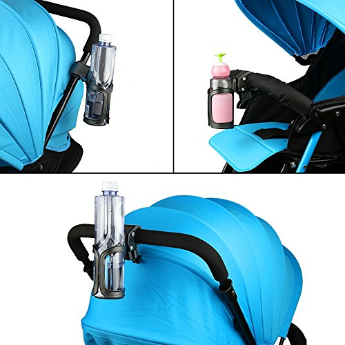 Accmor Bike Cup Holder/Stroller Bottle Holders, Universal 360 Degrees Rotation Antislip Cup Drink Holder for Baby Stroller/Pushchair, Bicycle, Wheelchair, Motorcycle, Tools Free, 2pack by accmor (Image #3)