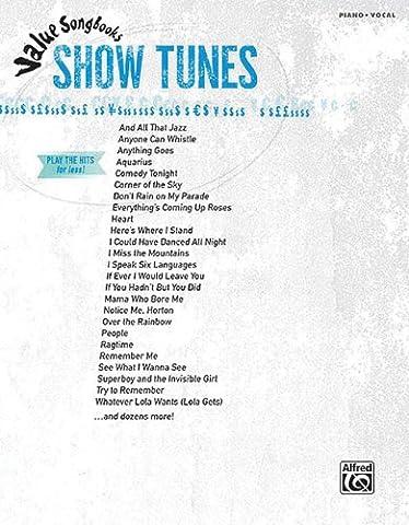 Value Songbooks: Show Tunes Piano Vocal Book (Tv Tunes For Guitar)