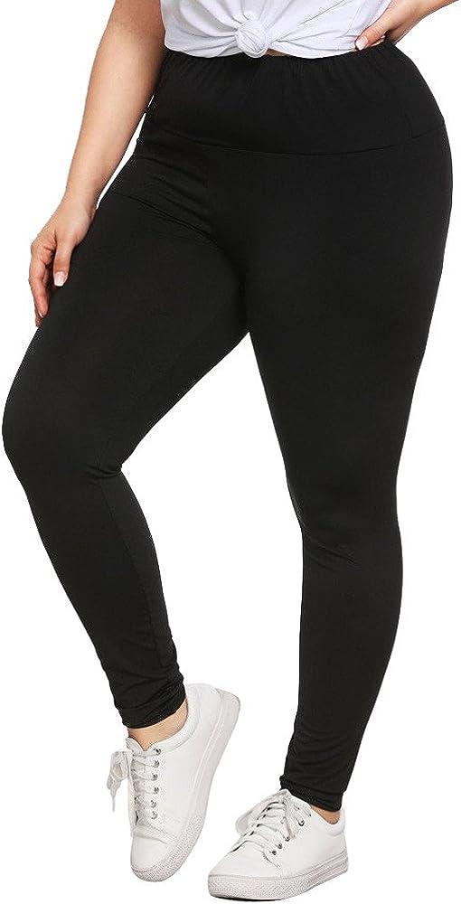 FRAUIT Donna Skinny Eleganti Vita Alta Yoga Taglie Forti Pants Elastico Fitness Running Leggings Jogging Sportivi Workout Gym Pantaloni A Matita Slim Moda Spandex Palestra Tinta Unita