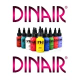 DINAIR AIRBRUSH MAKEUP - NEW! MASTER FANTASY COLLECTION - BODY PAINT - SPECIAL FX - PRIMARY COLORS