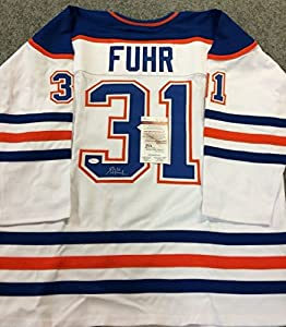Grant Fuhr Autographed Signed Edmonton Oilers Jersey Jsa Coa