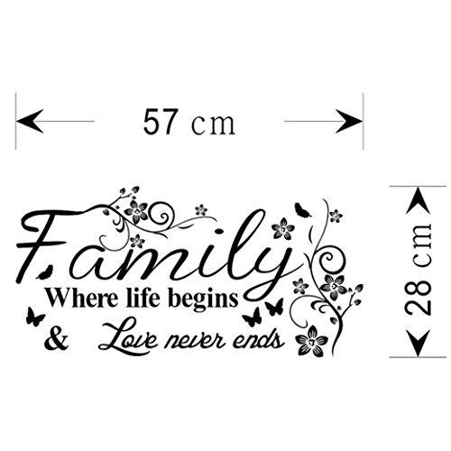 TIFENNY Hot Art Family Beautiful Flower Wall Stickers Home Words Decor Wall Sticker by TIFENNY (Image #5)