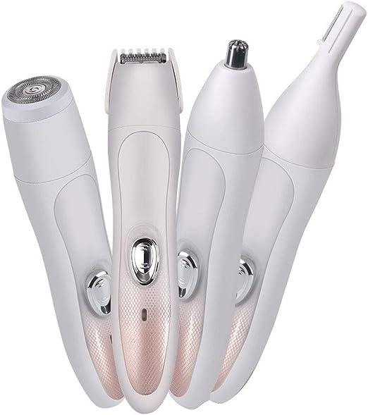 SSCJ Afeitadora eléctrica y Kit de Aseo 4 en 1 para Mujer Afeitadora eléctrica para afeitarse Afeitadora en seco y Recargable USB rápida para afeitadora inalámbrica para Cabello para Mujer: Amazon.es: Hogar