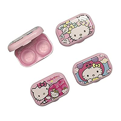 1 Piece Hello kitty series random patterns Contact Lenses Box & Case Contact lens Case Container OFFICE-752