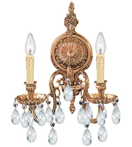 Crystorama 2902-OB-CL-S Novella - Two Light Wall Sconce, Clear Swarovski Strass - World Sconce 2 Light Olde