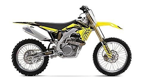 One Industries 2015 Suzuki Rockstar Graphic Kit - 64248-013 (Yellow - RMZ 250 2010-2015) - One Industries Graphics Kits